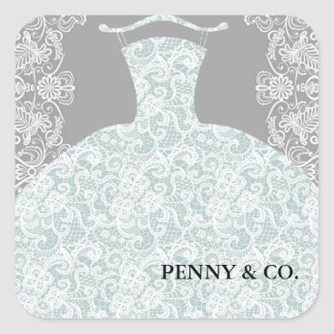 McTiffany Tiffany Aqua Something Blue Here Comes The Bride Party Stickers