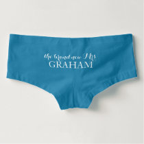 Something Blue New Mrs Bride Wedding Day Boyshorts