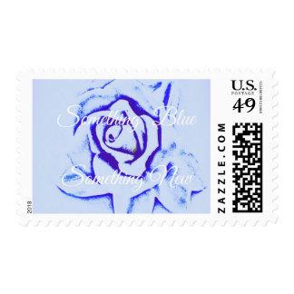 Something Blue, Something New, Wedding Or Shower P Stamp