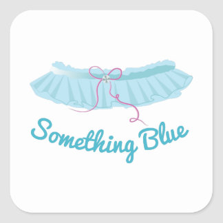 Something Blue Square Sticker