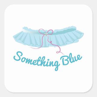 Something Blue Square Sticker