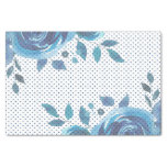 Something Blue Watercolor Floral Wedding Tissue Paper