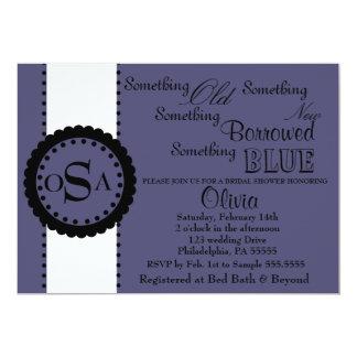 Something Bridal Shower Invitation ( Purple )