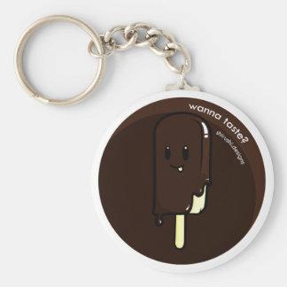 Something Chocolately Basic Round Button Keychain