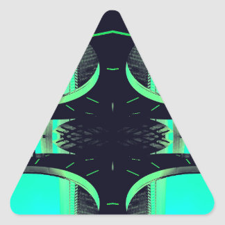 Something Different - Modern Urban Futurism Triangle Sticker