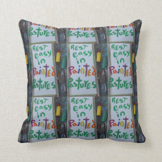 something different (painted pastures) throw pillow