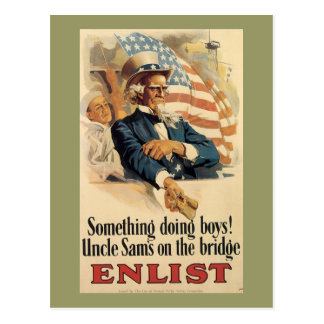 Something Doing Boys World War 2 Postcard