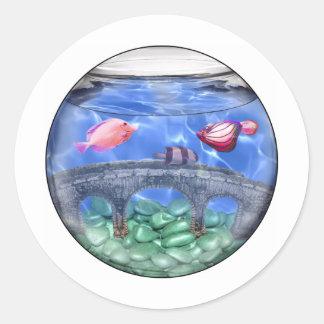 Something fishy! classic round sticker