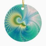 Something Fishy - Fractal Art Ceramic Ornament