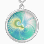 Something Fishy - Fractal Art Silver Plated Necklace