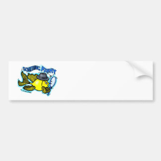 Something Fishy funny detective fish cartoon Card Bumper Sticker