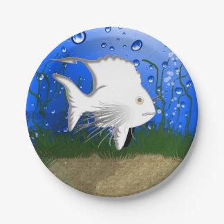 something fishy paper plate