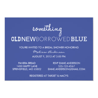 Something Old, New, Borrowed, Blue Bridal Shower I Card