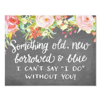Something Old New Borrowed | Bridesmaid 4.25x5.5 Paper Invitation Card