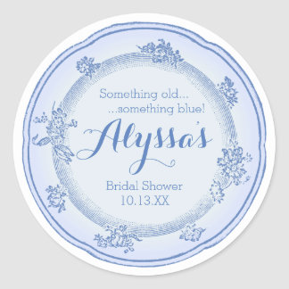 Something Old Plate Classic Round Sticker
