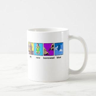 something old, something new, something borrowed classic white coffee mug
