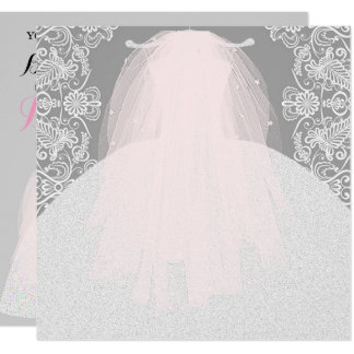 Something Pink Here Comes The Bride Party Card