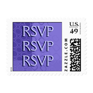 Something Purple - Bold Purple Abstract Postage Stamp