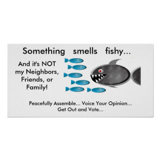 Obama care posters zazzle for Pee smells like fish