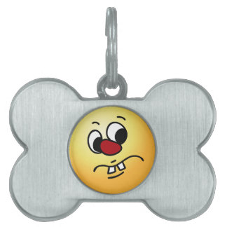 Something Stinky Smiley Face Grumpey Pet Name Tag