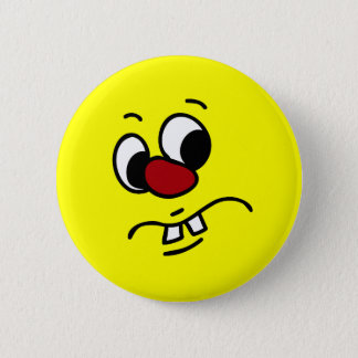 Something Stinky Smiley Face Grumpy Button