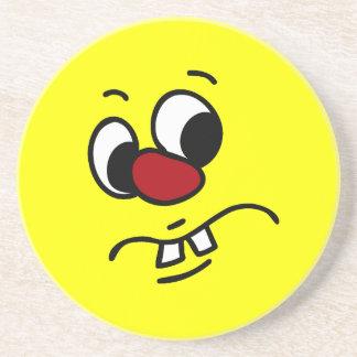 Something Stinky Smiley Face Grumpy Coaster