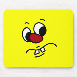 Something Stinky Smiley Face Grumpy Mouse Pad