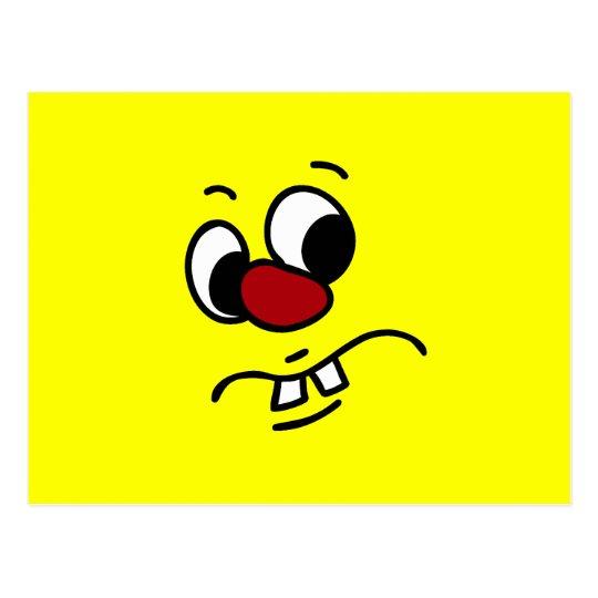 Something Stinky Smiley Face Grumpy Postcard