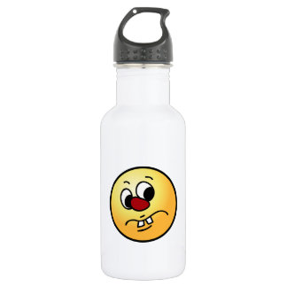 Something Stinky Smiley Face Grumpy Water Bottle