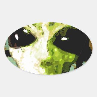 something Strange Oval Sticker