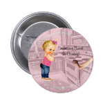 Something Sweet is Coming Baby Shower Button