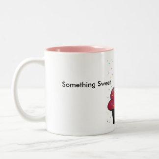 Something Sweet , With Your Coffee Two-Tone Coffee Mug