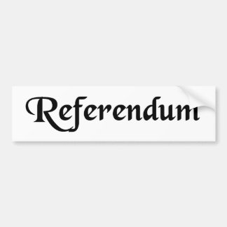 Something to be referred. car bumper sticker