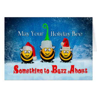 Something to Buzz About Holiday Honey Bees Card