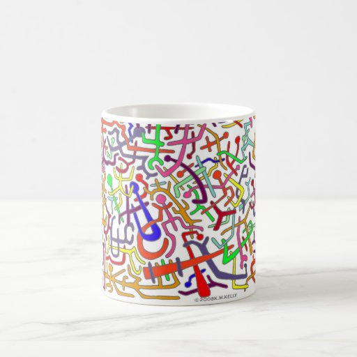 SOMETHING TO LOOK AT ! BY K.M.KELLY . CLASSIC WHITE COFFEE MUG