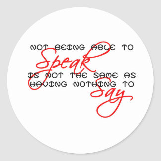 Something to Say copy Classic Round Sticker