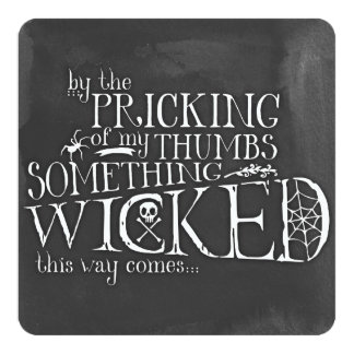 Something Wicked Custom Square Halloween Invites