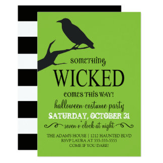 Something Wicked Halloween Invitation