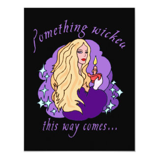 Something Wicked This Way Comes Halloween tee 4.25x5.5 Paper Invitation Card