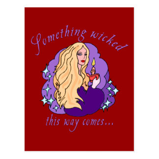 Something Wicked This Way Comes Halloween tee Postcard