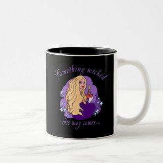 Something Wicked This Way Comes Halloween tee Two-Tone Coffee Mug