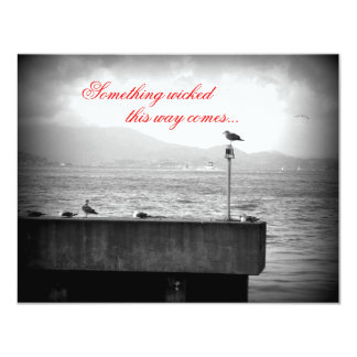 Something Wicked This Way Comes 4.25x5.5 Paper Invitation Card