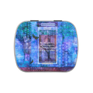 Something wicked this way comes Shakespeare quote Candy Tins
