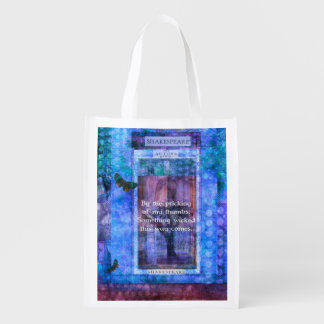 Something wicked this way comes Shakespeare quote Market Totes