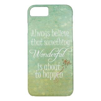 Something Wonderful Positive Quote Affirmation iPhone 7 Case