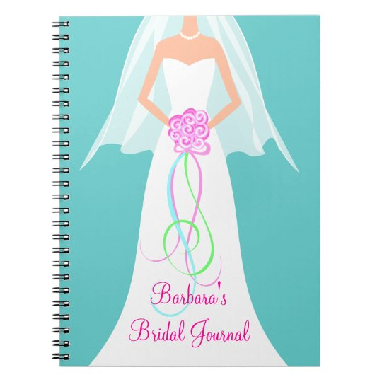 SomethingBlue Personalized Bridal Journal Notebook
