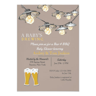 Something's Brewing Baby Shower 2 Invitation