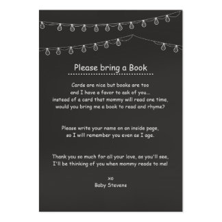 Something's Brewing Book Request Cards Large Business Card