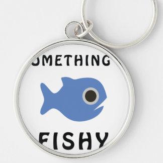 Somethings Fishy Blue Fish Keychain