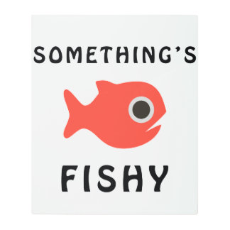 Somethings Fishy Red Fish Metal Photo Print